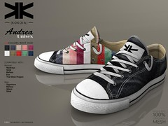 Andrea :: Unisex Sneakers :: 10 Colors ({kokoia}) Tags: andrea kokoia sneakers shoes sport male man adam slink signature belleza jake gianni tennis casual avatar 3d mesh athletic maitreya eve tmp unisex deporte zapato secondlife
