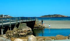 Foot bridge at Good Harbor (Icanpaint1) Tags: footbridge goodharborbeach beaches coast ocean oceanview viewoftwinlighthouses gloucesterma massachusetts seacoast newengland northshore wjtphotos wetreflections reflections