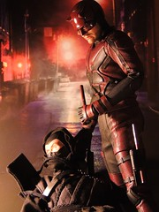 The Devil of Hell's Kitchen (1/6th shooter) Tags: mattmurdock daredevil netflixdaredevil netflix charliecox marvel stanlee hellskitchen marvelcomics hottoys elektra ninja thehand actionfigure toys blind