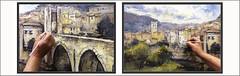 BESALÚ-PINTURA-PUEBLOS-MEDIEVALES-GIRONA-PAISAJES-CATALUNYA-ARQUITECTURA-PUENTE-HISTORIA-FOTOS-PINTANDO-DETALLES-CUADROS-ARTISTA-PINTOR-ERNEST DESCALS (Ernest Descals) Tags: besalú pueblos medievales pueblo medieval poble pont puente pobles medievals pintar pintando pintant detalles historia history arquitectura architectura historicos monumentos monuments historics hebreos village edadmedia pinturas pintures cuadros cuadro quadres quadre paisatge paisatges landscaping landscape paisajes paisaje bridge girona catalans catañanes catalunya cataluña catalonia art arte artwork paint pictures fotos montañas cielo sky casas cases campanario iglesia esglesia pintor pintors pintores panoramica panoramicas plastica plasticas plasticos painter painters painting paintings ernestdescals detallar artist artista artistes