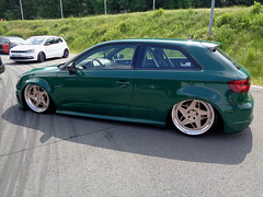 Audi A3 (911gt2rs) Tags: treffen meeting event show tuning tief low stance slammed s3 grün green airride fahrwerk airlift lxvt felgen wheels rims custom lx 8v
