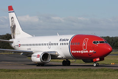 Boeing 737-3K2 LN-KKI Norwegian Air Shuttle (Mark McEwan) Tags: boeing b737 boeing737 boeing7373k2 lnkki norwegianairshuttle aviation aircraft airplane airliner edi edinburghairport edinburgh kraków realnorwegianhelgeingstad
