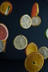 Suspensión cítrica (fanycidad) Tags: lemon orange fruit lime colorful yellow food composition