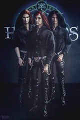 Dark Hunters (Riordan Great) Tags: acheron rock leathe rockband gothic guys black