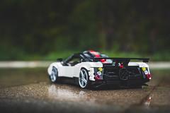 Pagani Zonda Cinque (Noah_L) Tags: lego pagani zonda cinque white black red car sportscar supercar hypercar noahl moc creation custom myowncreation