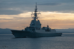 """F101 Spanish Frigate """"Alvaro de Bazon"""" (Ratters1968: Thanks for the Views and Favs:)) Tags: canon dslr photography digital eos canon7dmk2 martynwraight ratters 1968 joint warrior exjointwarrior2018 maritime exercise jw nato warships ship navy war military fleet faslane greenock cloch jointwarrior2018 clyde riverclyde scotland sea water frigate f101 spain spanish alvarobebazon"""