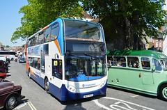 19163 NK57EUH (PD3.) Tags: 19163 nk57euh nk57 euh adl enviro 400 bus buses hampshire hants england uk stagecoach south winchester depot bar end barend