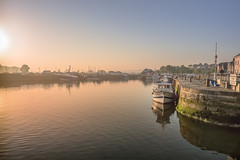 Hazy morning in the harbor (Sizun Eye) Tags: honfleur normandie normandy france harbor early morning sunlight boats fishingboat quay pier bassin port misty hazy sizuneye nikon1424mmf28 nikkor1424mmf28 1424mm 2018 spring may