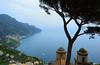 Ravello_view from Villa Rufolo (moniq84) Tags: ravello view villa rufolo sea blue tree church costiera amalfitana amalfi coast campania italia italy travel world nikon green seascape seascapes panoramic boat vista panorama