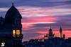 Fenêtre avec vue (A.G. Photographe) Tags: anto antoxiii xiii ag agphotographe paris parisien parisian france french français europe capitale d850 nikon sigma 150600 sacrécoeur montmartre bluehour sunset haussmann
