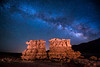 The Milky Way over rock formations near Bluff, Utah (diana_robinson) Tags: milkyway rockformations nightphotography nightsky stars hoodoos bluff utah