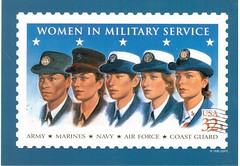 Postcrossing US-5334692 (booboo_babies) Tags: postage unitedstates military women postagestamps stamp postcrossing