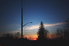 speaks to my soul (viewsfromthe519) Tags: sunset sky skyscape evening clouds red orange pink purple blue sun silhouette emotion trees stthomas ontario canada elgin weather view