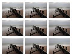 M2124279 E-M1ii 14mm iso64 f11 1.3s MF (Mel Stephens) Tags: uk scotland aberdeen groyne groynes le long exposure coast coastal stacked average averaged beach 20180512 201805 2018 q2 10x8 5x4 wide structure olympus mzuiko mft microfourthirds m43 714mm pro omd em1ii ii mirrorless