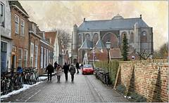 Oudestraat et Grote Kerk, Veere, Walcheren, Zeelande, Nederland (claude lina) Tags: claudelina nederland hollande paysbas zeelande zeeland veere church église