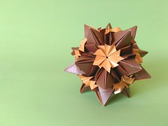 Blooming Diamond (C5Origami) Tags: floral paperfolding origami modular