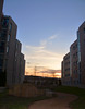 Sunset over Starin's Courtyard (UWW University Housing) Tags: uww uwwhitewater spring 2018 student lifestyle social uwwhousing building car friends
