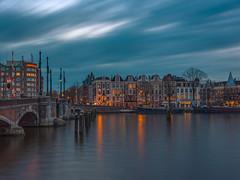 Amsteldijk from Weesperzijde (tommyferraz) Tags: amsterdam blue hour twilight evening lights city buildings architecgture canal canals river rivers dutch holland netherlands