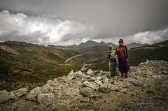 The Mountain Women (swati.mallik) Tags: arunachal people landscape nature beauty lake monk tawang mountain