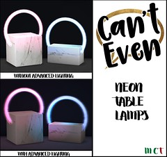 """Can't Even - Neon Table Lights (Celeste """"Jim"""" Forwzy- JIMJIMOTHY.COM/ Can't Even) Tags: neon light secondlife"""