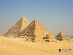 Giza pyramid complex (Hrbackpacker) Tags: egypt pyramids travel adventure ancient sevenwonders middleeast