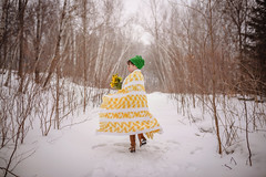 April snows brings...who knows? (Elizabeth Sallee Bauer) Tags: 5yearold nature child childhood cold flowers fresh girl kid outdoors outside snow snowing spring white winter yellow