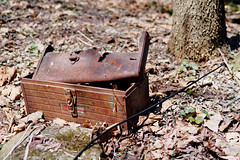 Forlorn Toolbox (fotofish64) Tags: toolbox rust rusty corroded rotted sears searscraftsman junk rural ruraldecay outdoor texture weathered weatherbeaten pentax pentaxart kp kmount smcpentaxfa35mmf2