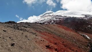 Blick auf den Gipfel des Cotopaxi