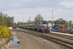 NJT 1003 in Denville - 5/04/2018 (John McCloskey Jr.) Tags: njt mta mncw gp40fh2 emd passenger train new jersey outdoors tracks denville montclair boonton line metro nort railroad