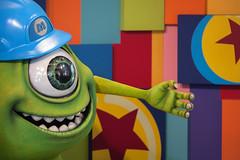 Mike Wazowski. (LisaDiazPhotos) Tags: lisadiazphotos disneyland pixarfest pixar pals monsters inc mike wazowski