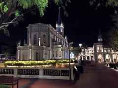 Chijmes Hall Singapore (Down Under Cove) Tags: lights night white hall church singapore chijmes
