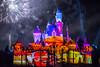 Together Forever — A Pixar Nighttime Spectacular - Disneyland fireworks show - Cars projection of Lightning McQueen and Cruz Ramirez (GMLSKIS) Tags: disney nikond750 anaheim california pixar disneyland fireworks sleepingbeautycastle