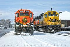 Geeps in the Snow (Colorado & Southern) Tags: bnsfrailway bnsf atsf atchisontopekasantafe emdgp40m emdgp60 trains train railfanning railroad railfan railway railroads railroading rail rr railroadtrack colorado coloradorailroads coloradotrains locomotive locomotives