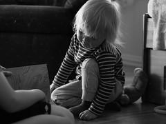 Jakob (livsillusjoner) Tags: bw blackwhite blackandwhite monochrome kid child children young kids play playing light boy boys stripes