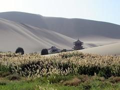 Mingyue Pavilion (D-Stanley) Tags: mingyue pavilion mingsha sand dunes dunhuang gansu china