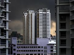 Bendemeer storm (thecrapone) Tags: singapore hdb storm dark cloud building drama bendemeer rain pentax06 pentaxq7