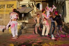 Fun time (SaumalyaGhosh.com) Tags: fun people holi colors shirts light street streetphotography india benars varanasi