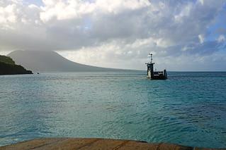 Sea Bridge ferry coming, St Kitts & Nevis