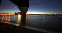 (minnesotagypsy) Tags: pentax sunset sky beautiful bridge lakesuperior lake longshutter nightshot night