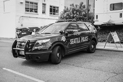 For Official Use Only (KurtClark) Tags: samcobra explorer police policecar seattle universitydistrictstreetfair street streetphotography enna lithagon 35mm f35 manuallens