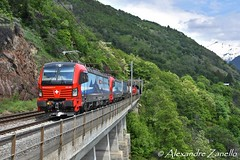 BR 193 465 & 461, Eggerberg (CH) (Alexandre Zanello) Tags: br193 siemens vectron sbb cff ffs cargo international lötschberg lötschbergbahn südrampe eggerberg valais wallis schweiz suisse svizzera svizra switzerland