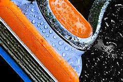 Gillette (andycurrey2) Tags: macromondays readyfortheday colorful indoor closeup razor water orange blue contrast
