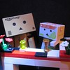 Sgt Danbo and Dr Yubari meet for a drink (jefalump) Tags: thegreatescape revoltech hokkaido omiyage danboard danbo lego