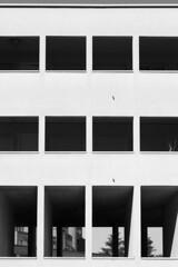 Gallaratese II Housing (LG_92) Tags: gallaratese aldorossi rossi housing social modern modernism italy italian square rectangular white facade arcade building opening nikon dslr d3100 2018 april milano milan architecture window monochrome geometric symmetry
