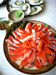 Trout sashimi 鱒魚 (MelindaChan ^..^) Tags: seafood fish food eat korean chanmelmel mel 鱒魚 sashimi meat hadong skorea 河東 melinda melindachan travel spring
