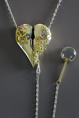 Victoria (Cor Slee) Tags: steampunk jewelry gold wheels magnifying glass heart watch