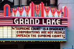 Corporations Are Not People (Thomas Hawk) Tags: california eastbay grandlaketheater oakland usa unitedstates unitedstatesofamerica neon politics theater fav10 fav25 fav50