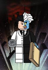 Two-Face (Ashnflash98) Tags: lego batman animated series twoface harvey dent