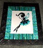 fairy turqB1 (Mischandler) Tags: mischa sticks rolled paper magazines mats tubes rolls projects photos display glue colorful pictures frames crafts crafting custom original fairy princess silhouette rhinestones dress glamour beautiful turquoise