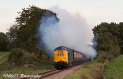 20171006-IMG_6508 (deltic21) Tags: deltic deltics 55 class napier type 5 english electric coco clag british rail railway railways train trains tracks bluebell preserved presevation gala diesel loco locmotive engine traction power thrash br blue green two tone canon sussex lineside trees station foxfield horsted keynes east grinstead sheffield park classic heritage scenery scenic countryside retro vulcan foundry track 55009 55002 55019 alycidon royal highland fusiliers kings own yorkshire light infantry